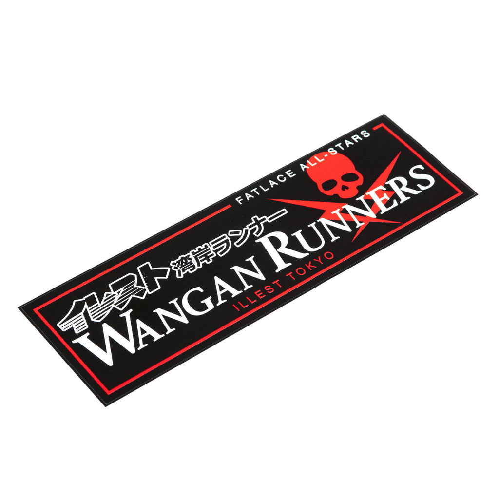 WANGAN RUNNERS BUMPER STICKER - BLACK