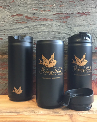 A Stainless Steel Vacuum Insulated 12oz travel cup