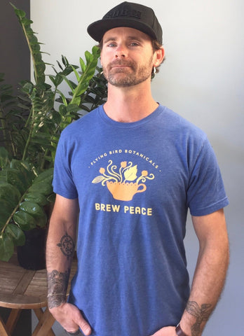 Apparel- Flying Bird Botanicals Brew Peace t-shirt