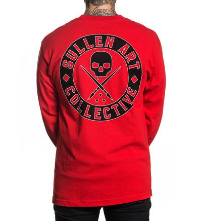 BADGE OF HONOR LONG SLEEVE RED