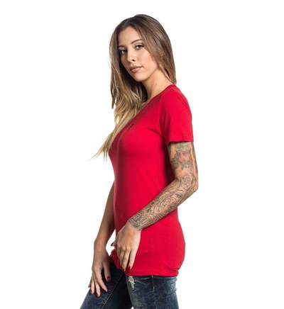 SA STANDARD ISSUE V-NECK RED