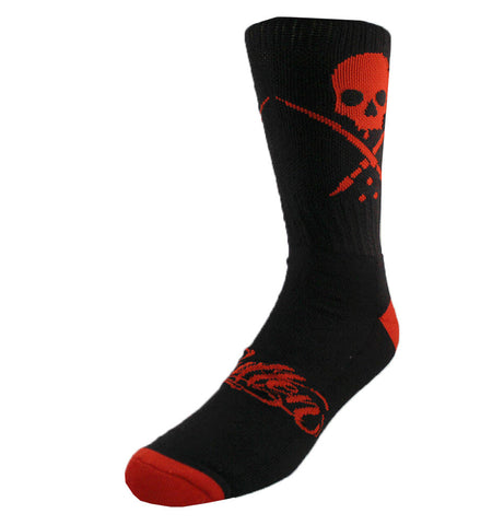 STANDARD SOCKS BLACK/RED