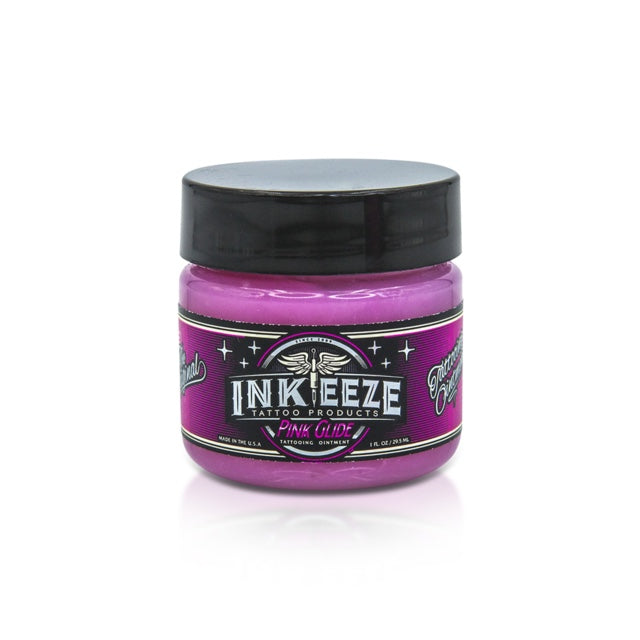 INK-EEZE PINK GLIDE TATTOO OINTMENT - 1OZ