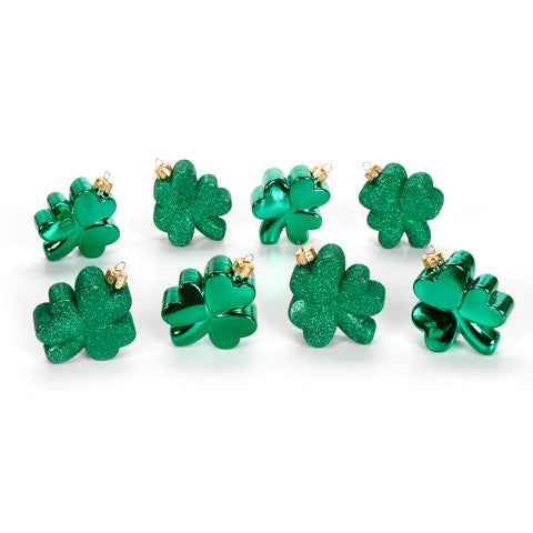 Darice Shamrock Ornaments Set of 8-Ornament-Oakview Collectibles