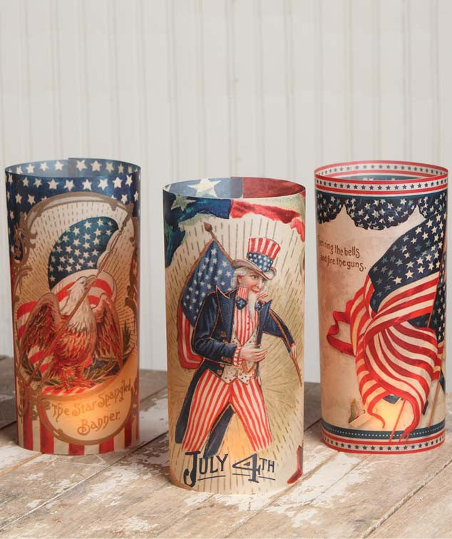 Bethany Lowe Americana Luminaries Set of 6-Candle Decor-Oakview Collectibles
