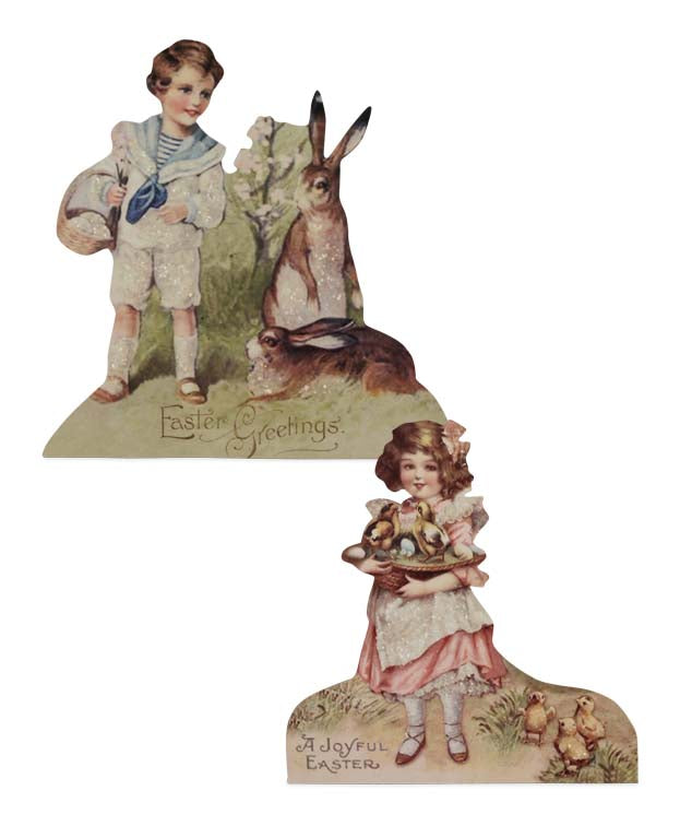Bethany Lowe Spring Children Dummy Board Set of 2-Dummy Board-Oakview Collectibles