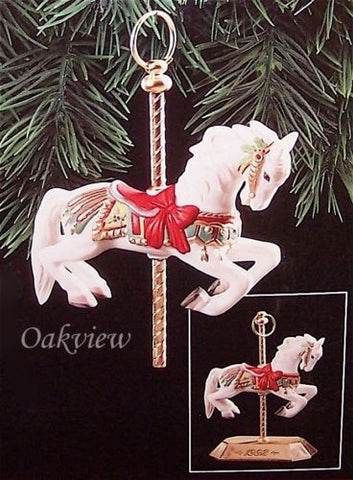 Hallmark 1992 Tobin Fraley Carousel #1 NIB-NRFP Horse Porcelain Ornament QX4891-Other-Oakview Collectibles