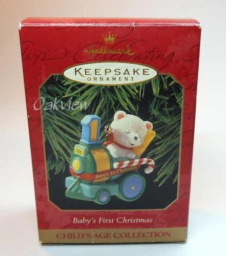 Hallmark 1999 Baby's First Christmas Child's Age-1995-99-Oakview Collectibles