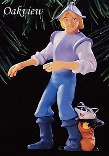 Hallmark 1995 Captain John Smith and Meeko - DB-Ornament-Oakview Collectibles