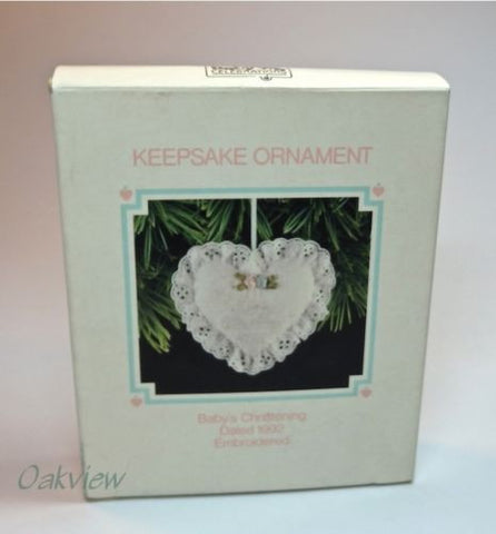 Hallmark 1992 Babys Christening-Ornament-Oakview Collectibles