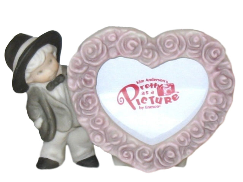 Pretty As A Picture Boy Heart Frame-Photo Holder-Oakview Collectibles