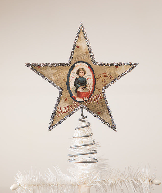 Bethany Lowe Americana Star Tree Topper-Tree Topper-Oakview Collectibles