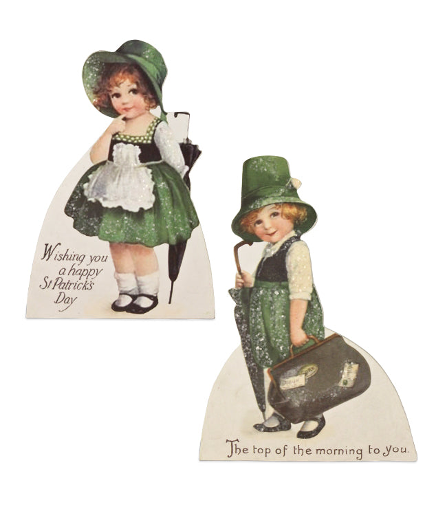 Bethany Lowe St Patricks Luck O The Irish Dummy Board Set of 2-Dummy Board-Oakview Collectibles