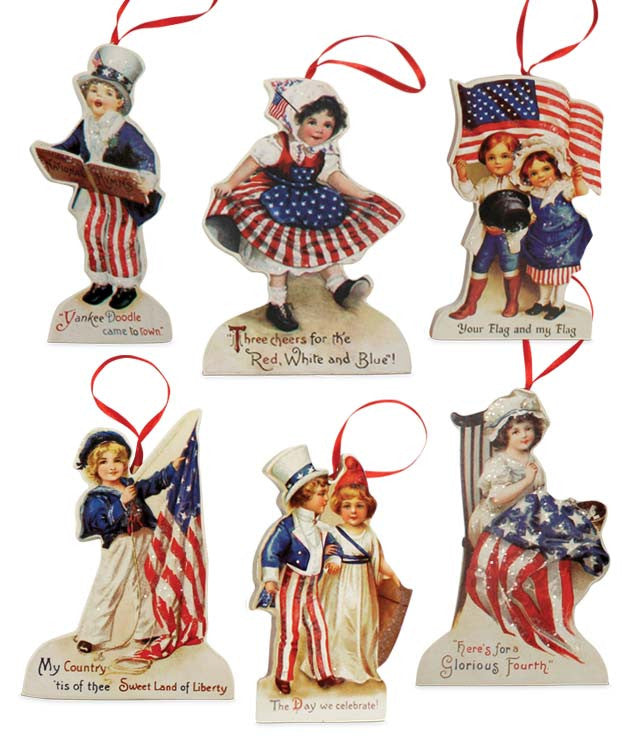 Bethany Lowe Americana Die Cut Ornament Set of 6-Ornament-Oakview Collectibles