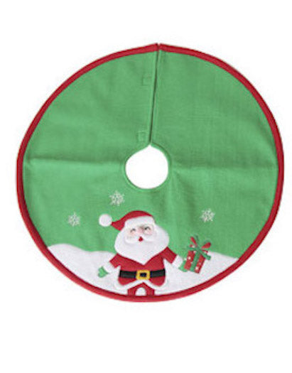 Darice Santa Claus Mini Tree Skirt - 18in-Tree Skirt-Oakview Collectibles