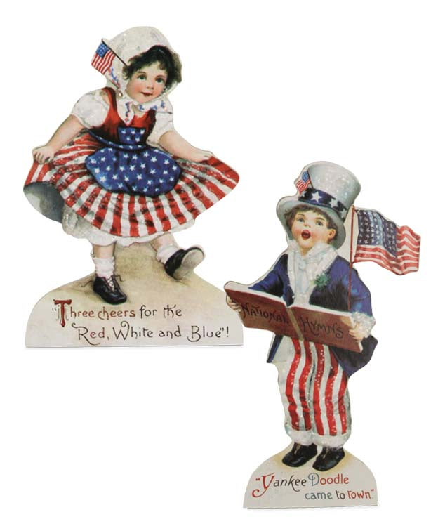 Bethany Lowe Americana Children Medium Dummy Boards Set of 2-Dummy Board-Oakview Collectibles