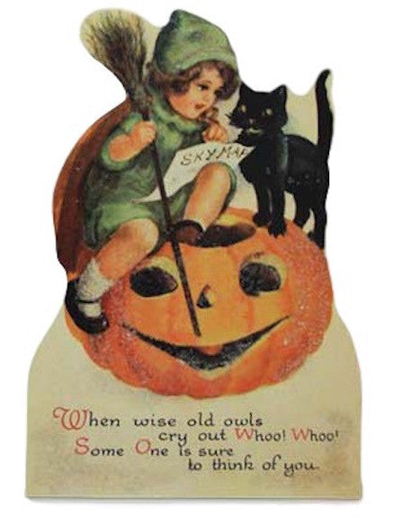 Bethany Lowe Vintage Halloween Child Dummy Board (Jack O Lantern)-Dummy Board-Oakview Collectibles