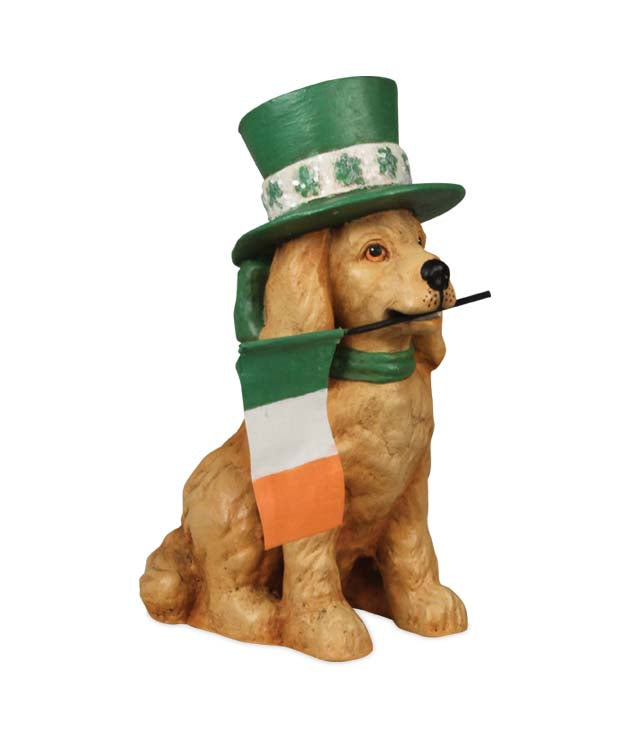 Bethany Lowe St Paddys Dog-Figurine-Oakview Collectibles