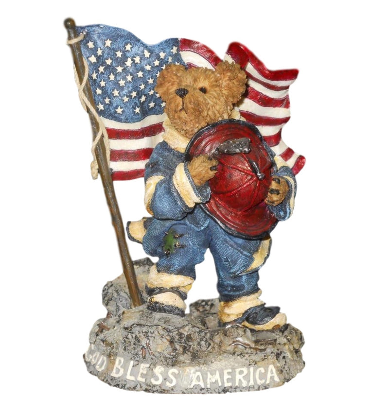 Boyds Bearstone Our American Hero ... Strength, Dedication and Courage Figurine-Figurine-Oakview Collectibles