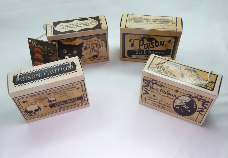 Bethany Lowe Halloween Potion Boxes-Ornament-Oakview Collectibles