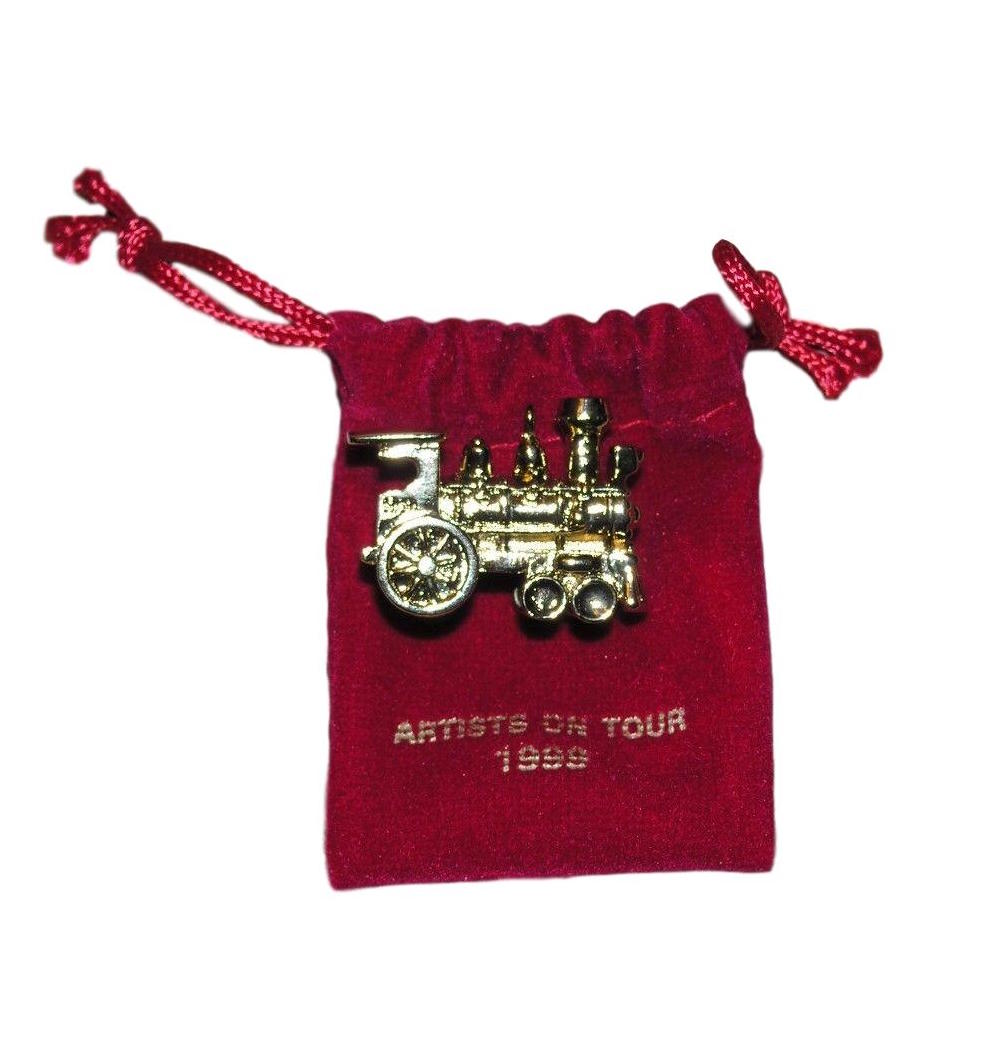 Hallmark 1999 Gold Locomotive, Artists on Tour - Miniature-Miniature Ornaments Hallmark-Oakview Collectibles