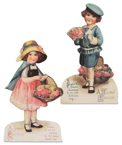 Bethany Lowe Easter Time Dummy Boards Set of 2-Dummy Board-Oakview Collectibles