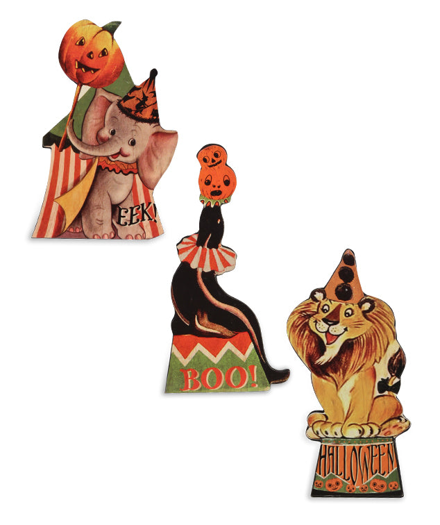 Bethany Lowe Halloween Big Top Dummy Board Set of 3-Dummy Boards-Oakview Collectibles