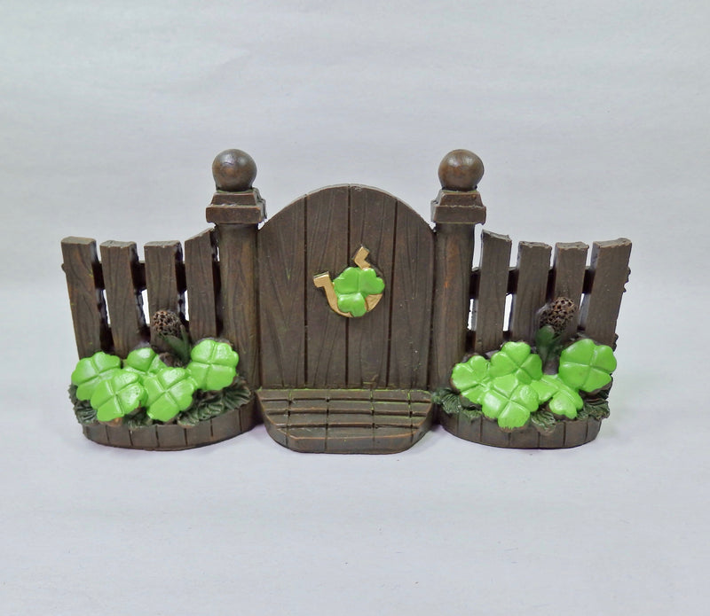 Darice Miniature Fairy Garden St Patricks Day Gate-Fairy Garden-Oakview Collectibles