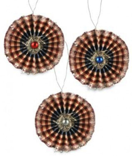 Bethany Lowe Americana Rosette Ornaments Set of 3-Ornament-Oakview Collectibles