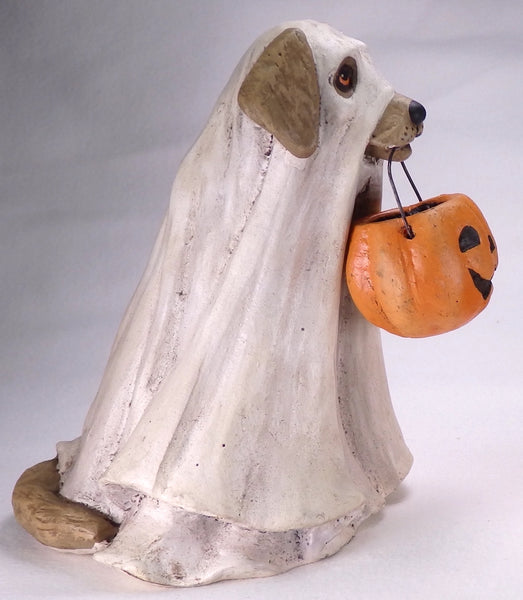 Bethany Lowe Spooky Ghost Dog - Halloween-Figurine-Oakview Collectibles