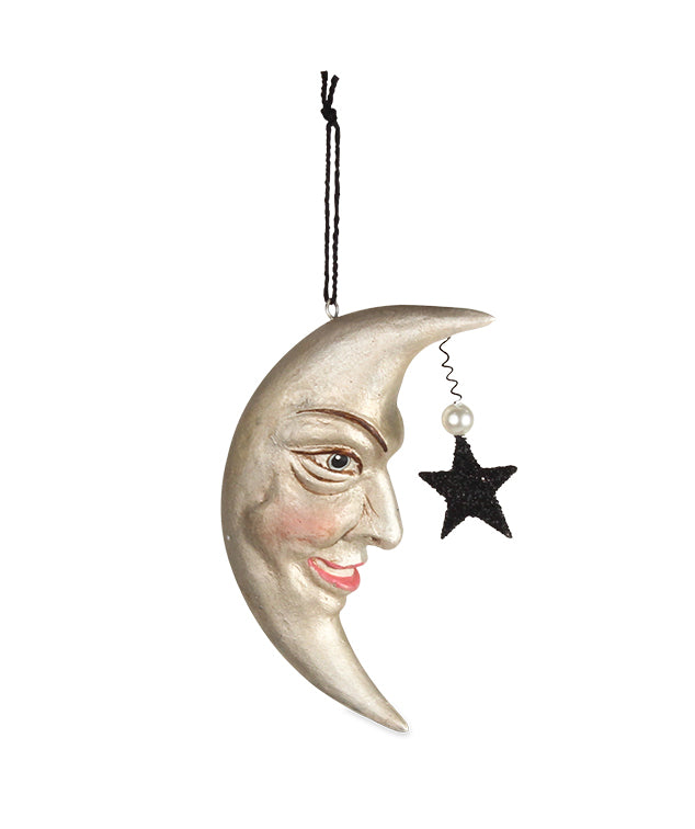 Bethany Lowe Man in the Moon Ornament-Ornament-Oakview Collectibles