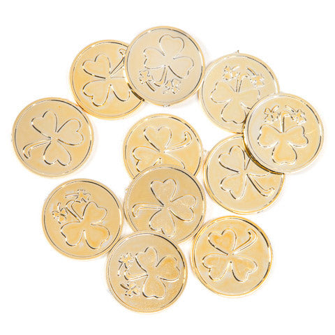 Darice Gold Plastic St Patricks Day Coins 50 Pack-Filler-Oakview Collectibles