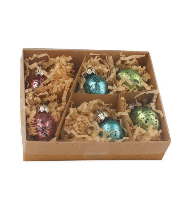 "Bethany Lowe Pastel Glass Egg 1.5"" Ornaments Box/6-Ornament-Oakview Collectibles"