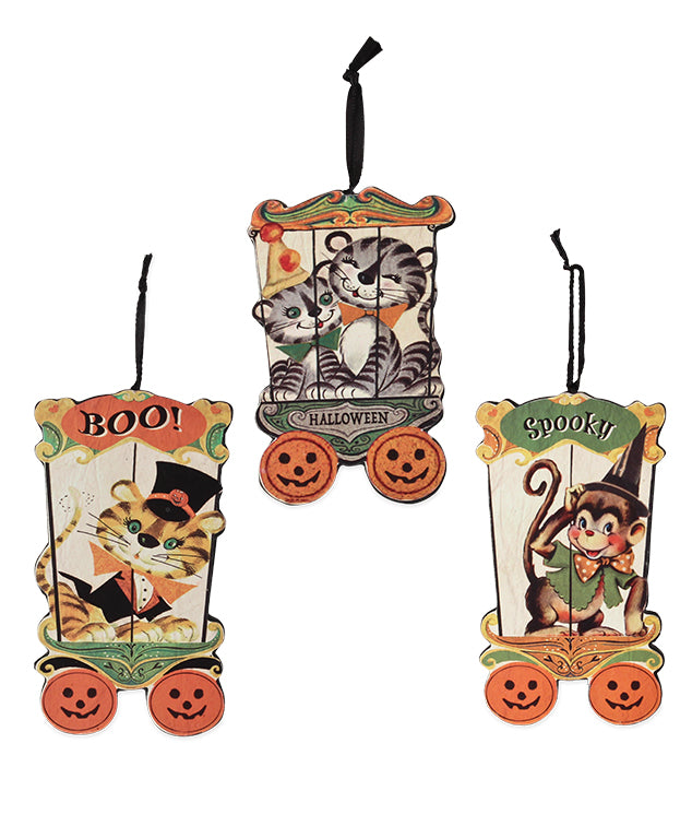 Bethany Lowe Halloween Big Top Ornament Set of 3-Ornament-Oakview Collectibles