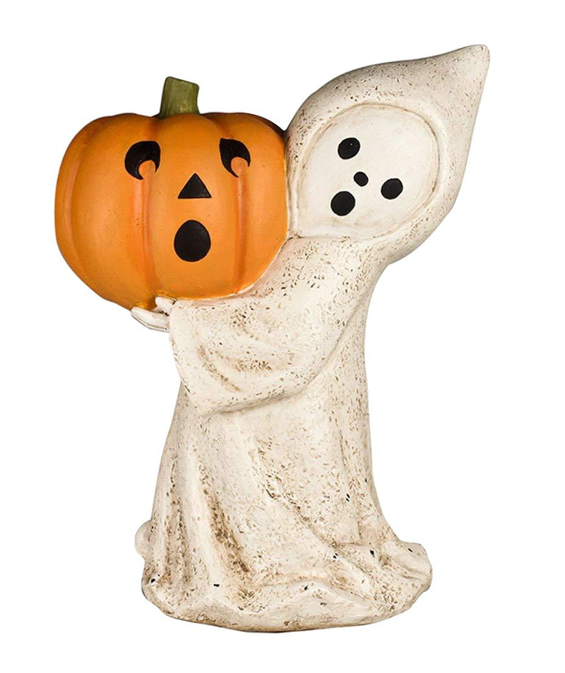 Bethany Lowe Little Ghost with Jack O Lantern Figurine-Figurine-Oakview Collectibles