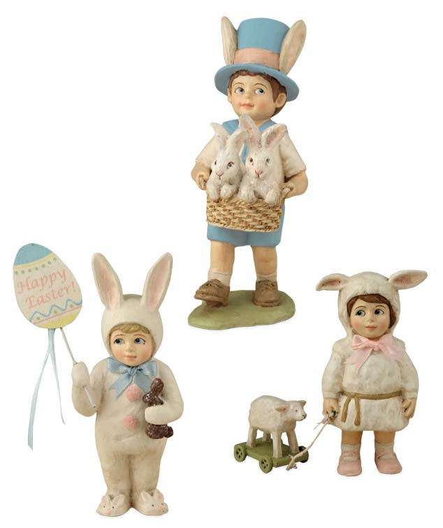 Bethany Lowe Easter Parade Set of 3 Figurines