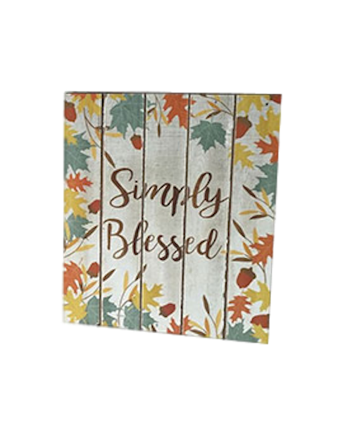 Darice Simply Blessed Box Sign-Box Sign-Oakview Collectibles