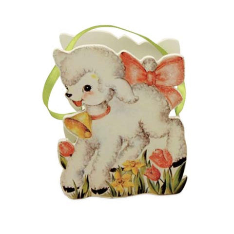 Bethany Lowe Retro Easter Bucket - Lamb-Bucket-Oakview Collectibles