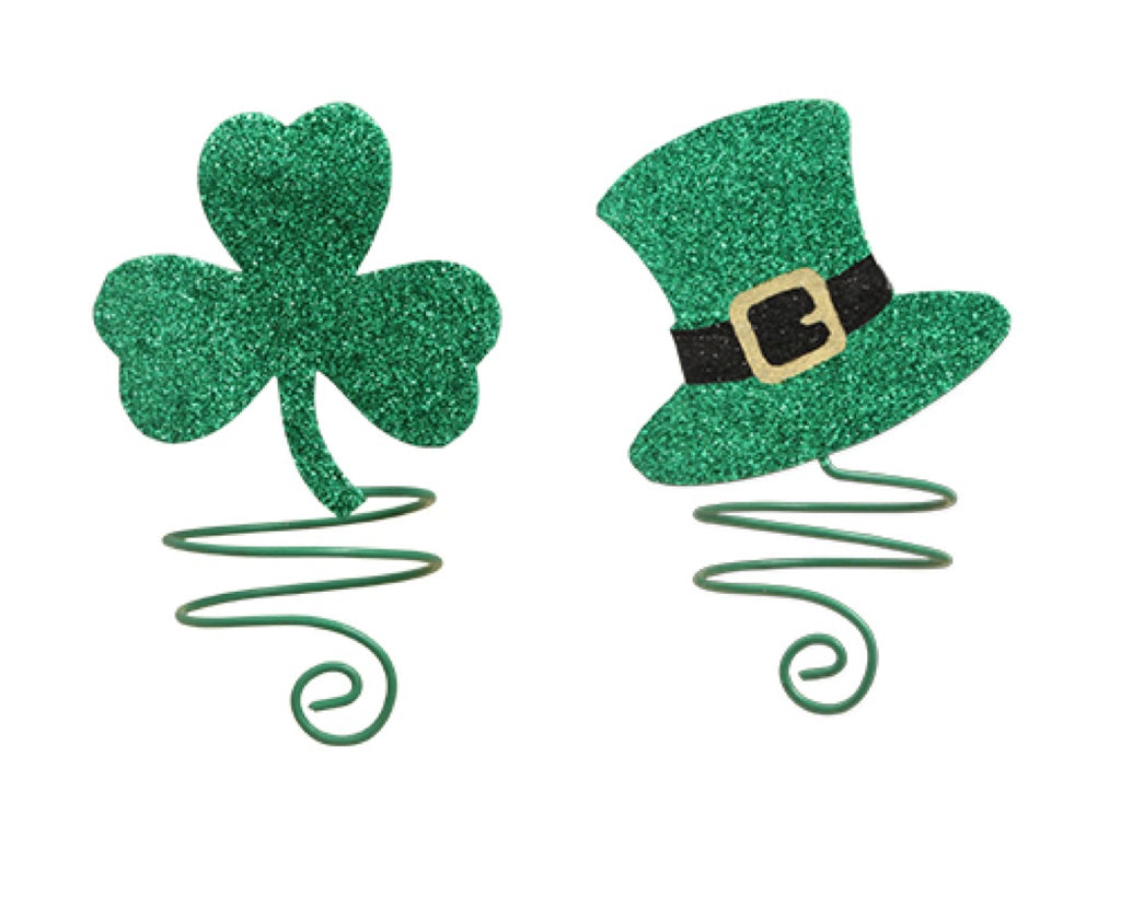 Bethany Lowe Luck O the Irish Napkin Rings or Wine Bottle Adornaments-Table Linens-Oakview Collectibles