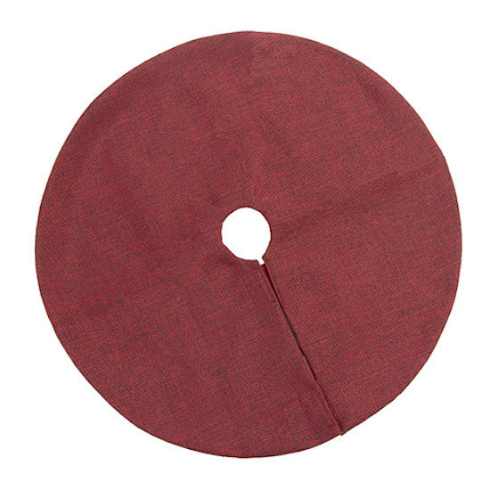 Darice Synthetic Burlap Mini Tree Skirt Red - 18in-Tree Skirt-Oakview Collectibles