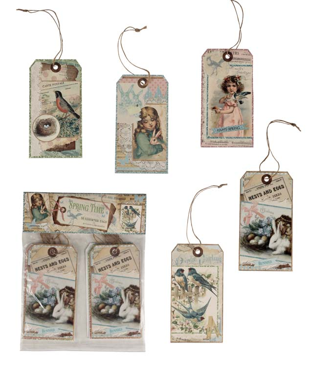 Bethany Lowe Spring Time Postcard Ornament Set of 10-Ornament-Oakview Collectibles