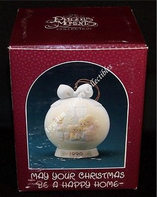 Precious Moments May Your Christmas Be A Happy Home-Ornaments-Oakview Collectibles