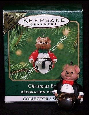 Hallmark 2001 Christmas Bells Colorway Mouse Miniature Ornament QXM5254C-Ornament-Oakview Collectibles
