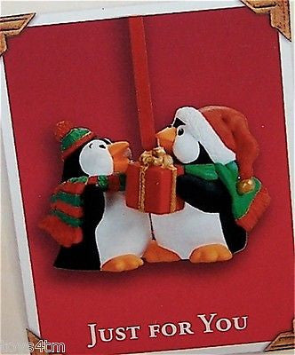 Hallmark 2003 Just For You Penguins - Club-Ornament-Oakview Collectibles