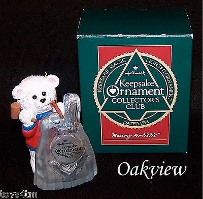 Hallmark 1991 Beary Artistic - Club-Ornament-Oakview Collectibles