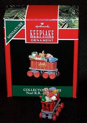 Hallmark 1990 Noel R.R. Series #2 Coal Car Artist Signed - Miniature-Ornament-Oakview Collectibles