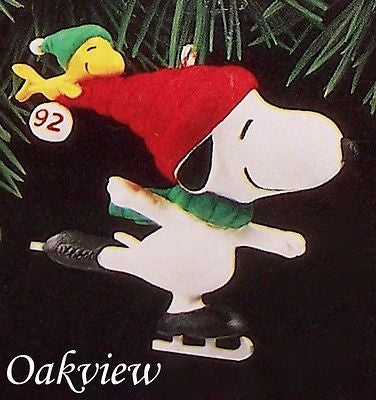 Hallmark 1992 Snoopy and Woodstock-Peanuts-Oakview Collectibles
