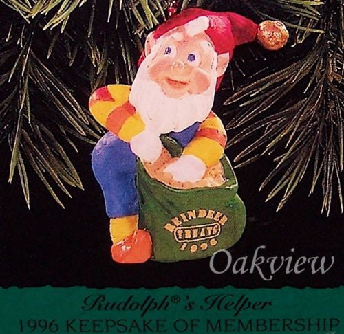 Hallmark 1996 Rudolph's Helper Elf - Club Miniature-Ornament-Oakview Collectibles