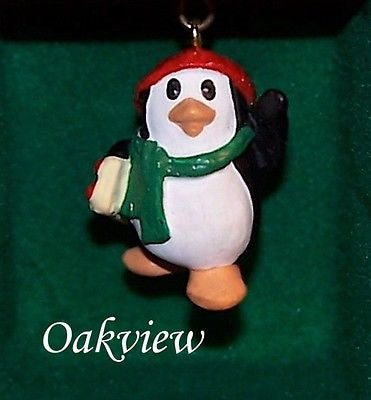 Hallmark 1988 Penguin Pal #1 - Miniature-Ornament-Oakview Collectibles