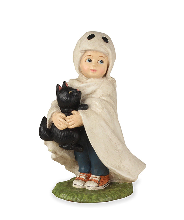 Bethany Lowe Ghostie Jack with Black Cat-Figurine-Oakview Collectibles